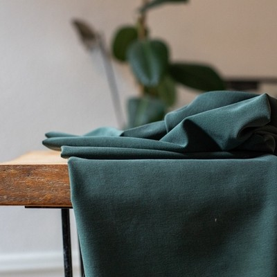 Meet Milk- Soft Stretch Twill-DEEP GREEN